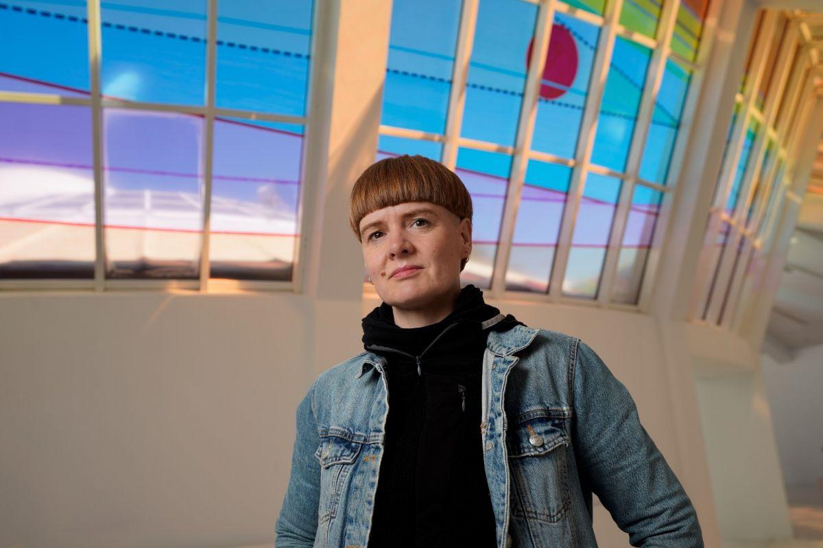 Artist Talk: Sirra Sigrún Sigurðardóttir. Photo: Eyþór Árnason.
