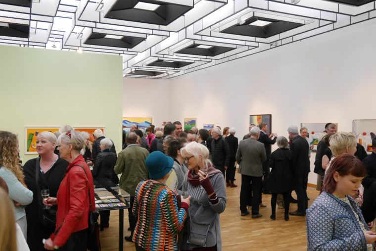 From the opening day of the exhibition Calm at Kjarvalsstaðir.