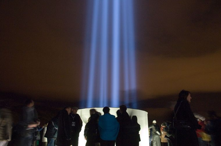 Imagine Peace Tower lit today