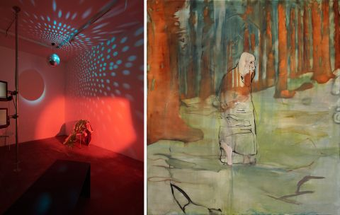 From the exhibitions Bout – four bouts of video works and Human Disguise at Hafnarhús.