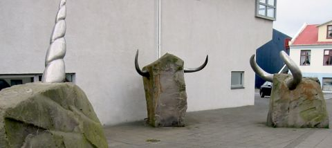 Artwork of the week: Unicorn vs. Two-horned by Magnús Tómasson from 1990.