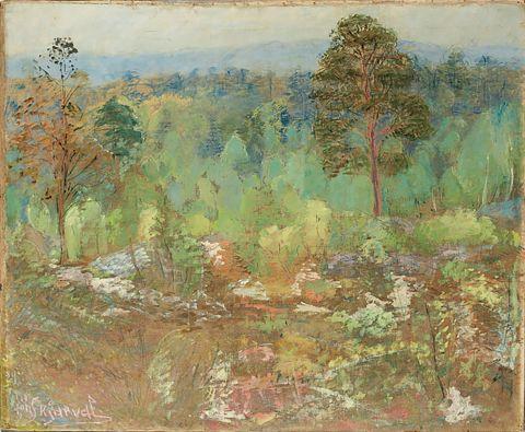 Jóhannes Kjarval, Frönsk skógarmynd, 1928, olía á striga.