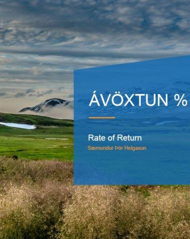 Saemundur Thor Helgason: Rate of Return %, photo:Ágúst Eiríksson
