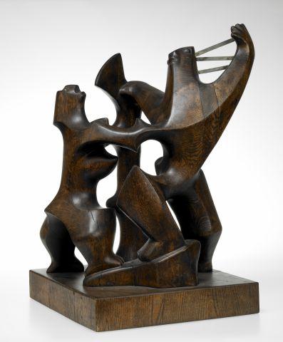 Ásmundur Sveinsson, Head Ransom, 1948, oak, 66x45 cm.