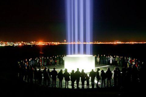 Imagine Peace Tower illuminated