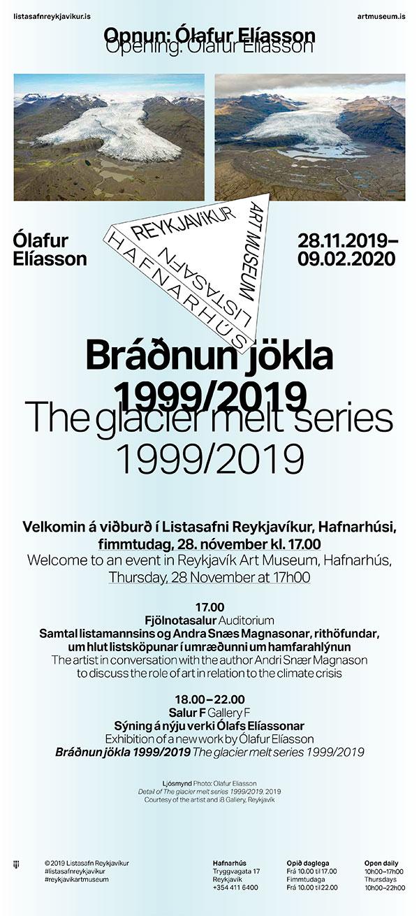Ólafur Elíasson: Bráðnun jökla 1999/2019