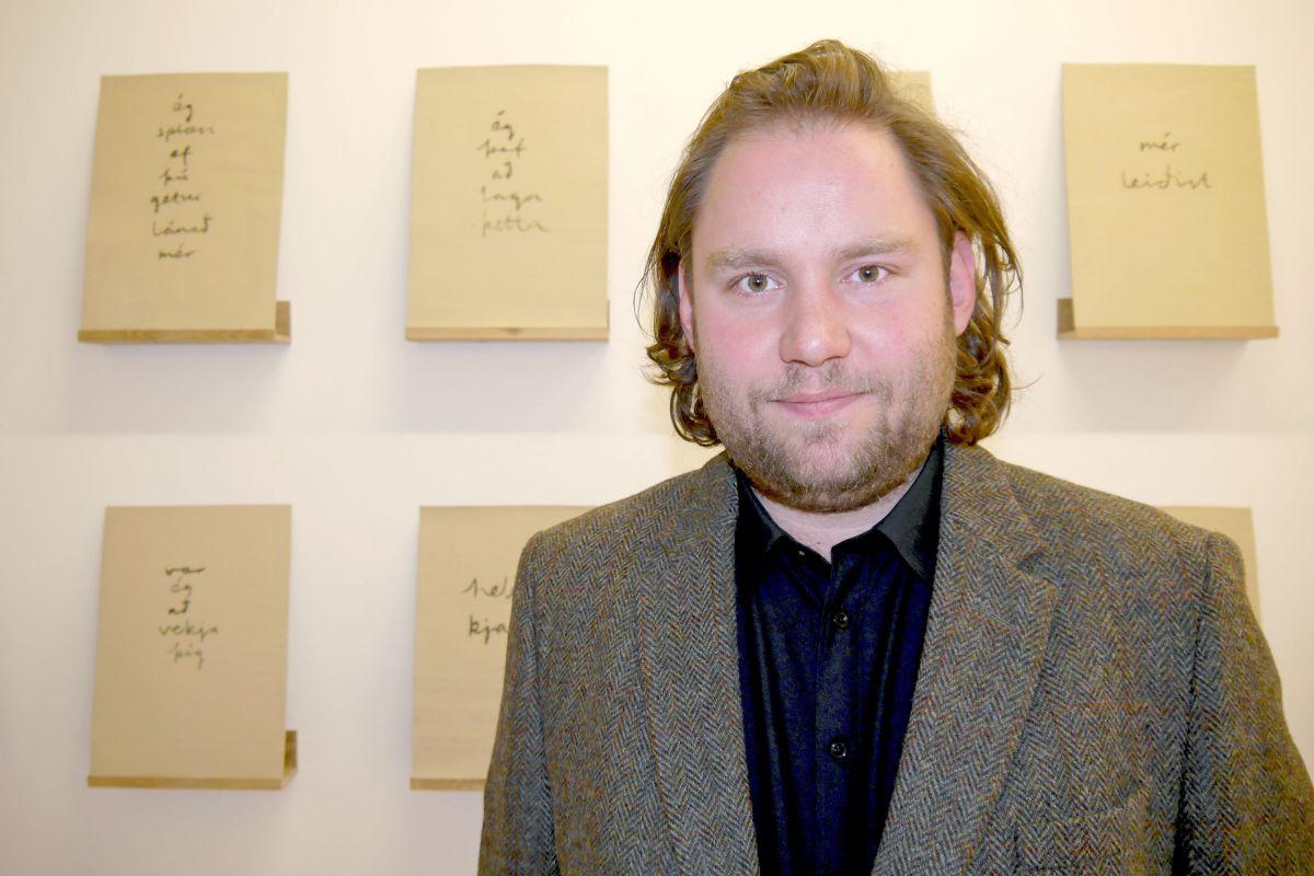 Leifur Ýmir Eyjólfsson myndlistarmaður. Ljósmynd: Hildur Inga Björnsdóttir.