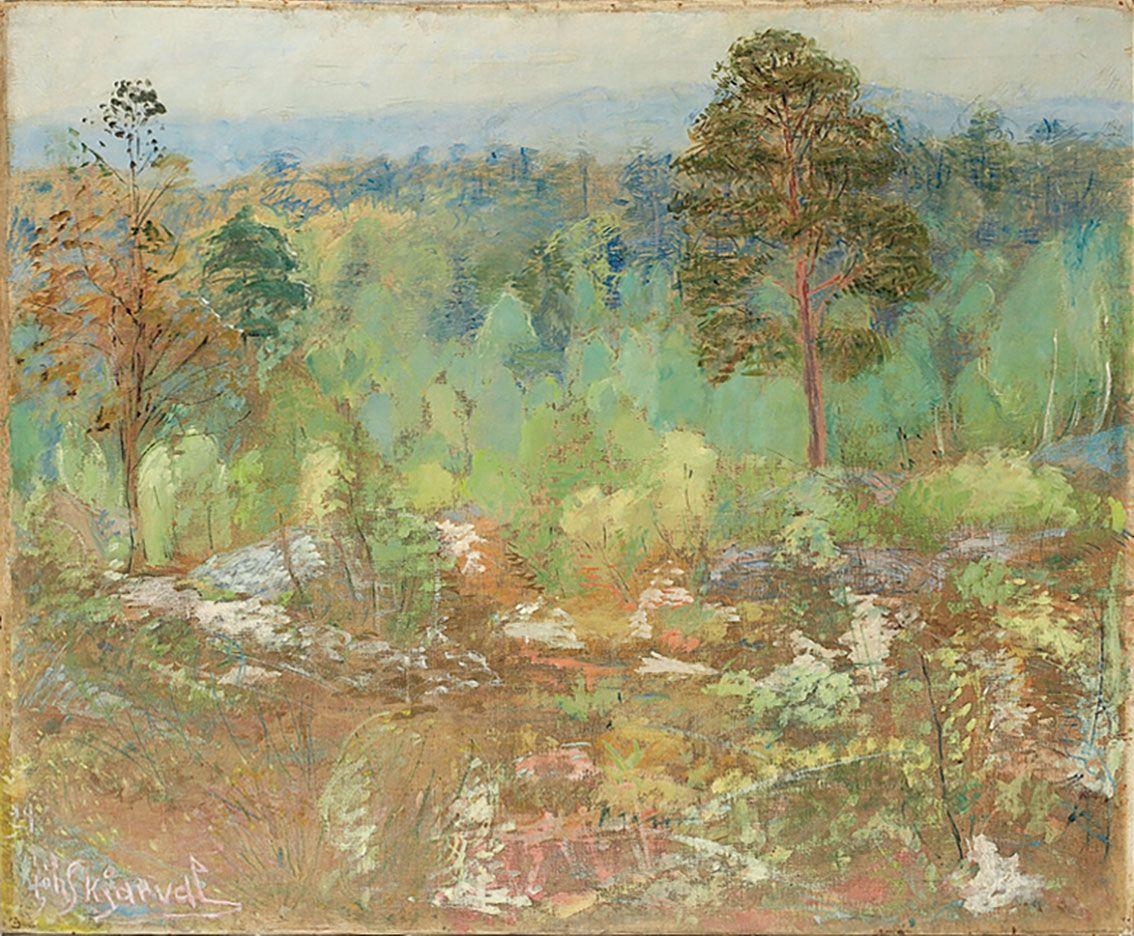 Jóhannes S. Kjarval (1885-1972), Frönsk skógarmynd / French Forest Scene, 1928