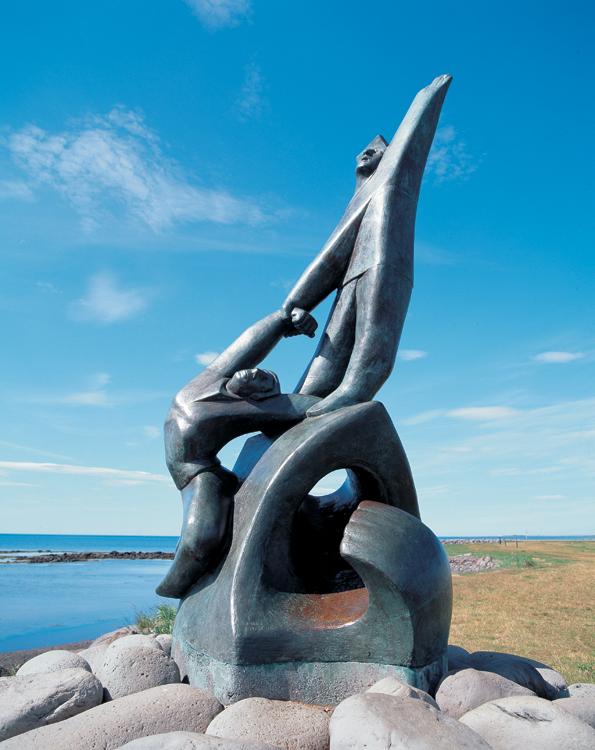 Ásmundur Sveinsson: Bjargað úr sjávarháska