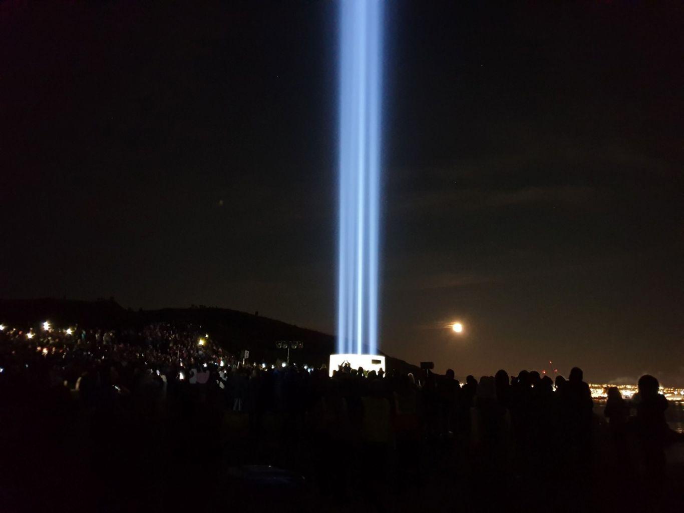 Imagine Peace Tower in Viðey by Yoko Ono, 2007.