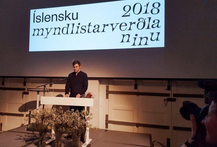 Sigurður Guðjónsson, the artist of the year 2018.