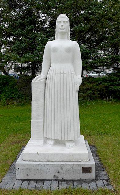Landnámskonan eftir Gunnfríði Jónsdóttur frá 1955.