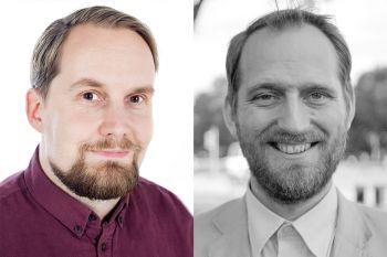 Sigurður Trausti Traustason og Markús Þór Andrésson