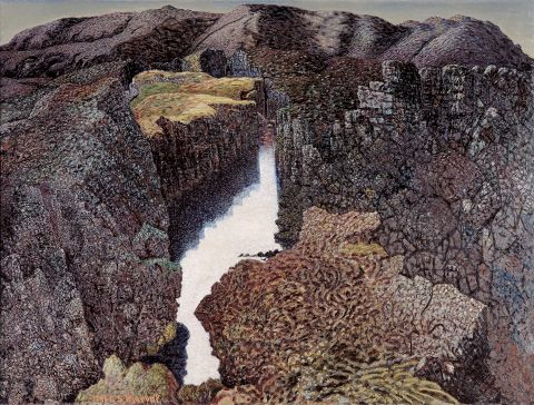 Fjallamjólk eftir Jóhannes S. Kjarval, 1941.