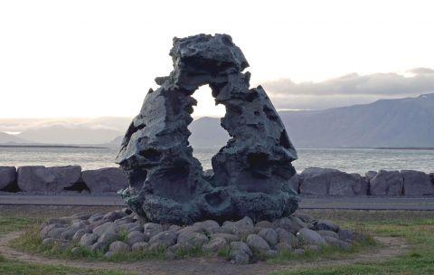 Jóhann Eyfells, Íslandsvarðan, 2003-6. Ljósmynd: Hildur Inga Björnsdóttir.