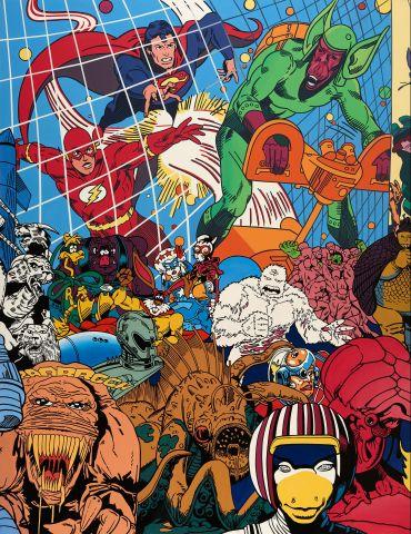 Science-Fiction Scape, 1992, olíualkýð á striga.
