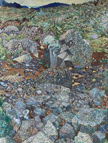 Jóhannes S. Kjarval, Skjaldbreiður (í Grafningi), 1962, olía á léreft, 204x154 cm.