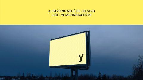 Auglýsingahlé Billboard - list í almannarými