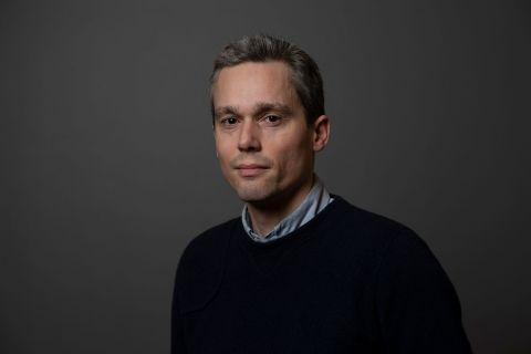 Einar Geir Ingvarsson sýningarstjóri. Ljósmynd: Eyþór Árnason.