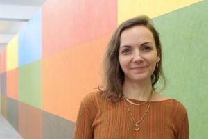 Curator Lindsay Aveilhé. Photo: Hildur Inga Björnsdóttir.