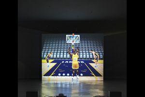 Cory Arcangel, Self Playing Nintendo 64 NBA Courtside 2, 2011,Photo Sacha Marcic