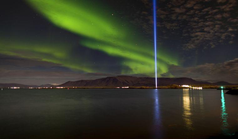 Imagine Peace Tower in Viðey Island